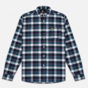 Мужская рубашка Lyle & Scott Check Flannel Off White