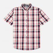 Мужская рубашка Edwin Standard SS Poplin Check Red