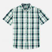 Мужская рубашка Edwin Standard SS Poplin Check Green