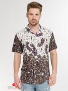 Рубашка Etro, цвет коричневый, молочный