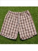 Замечательные домашние мужские шорты из хлопка в коричневую клетку на...