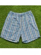 Удобные домашние мужские шорты из хлопка в голубую клетку на резинке с...