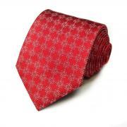 Шелковый стильный галстук с логотипами в форме орнаментов Celine...