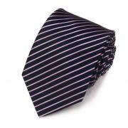 Темно-синий галстук в нежную тонкую полоску Club Seta 820869