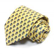Модный желтый галстук с синими узорчиками Benjamin James 811529