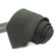 Коричнево-зеленый фактурный галстук Rene Lezard 811748