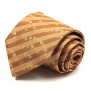 Галстук в полоску темно-песочного цвета Ungaro 63426