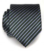 Зеленый галстук для мужчины полоску классика Клаб Сета 8008
