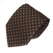 Набивной шелковый галстук в неярких желтых логотипах Celine 820247