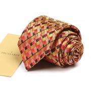 Золотисто-красный переливающийся галстук Trussardi 72569