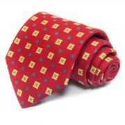 Стильный широкий галстук в квадратик Benjamin James 811547