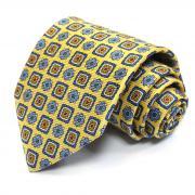 Широкий желтый галстук с узором Benjamin James 811575
