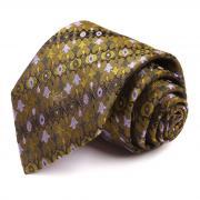 Модный горчичный галстук с оригинальным рисунком Emilio Pucci 66809