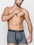 Узорчатые черные мужские трусы боксеры из эластичной хлопковой ткани...
