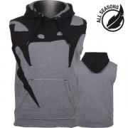 Толстовка Venum Attack Sleeveless Hoody Heather Grey