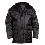 Куртка удлиненная утепленная черного цвета ткань Оксфорд