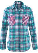 bonprix Клетчатая рубашка с длинным рукавом (синий) - John Baner...
