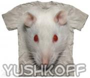 Футболка Big Face White Rat