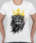 Футболка женская Лев в желтой короне