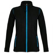 Куртка женская Nova women, черная с ярко-голубым