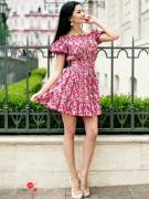 Платье Charm, цвет малиновый