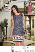 Летнее платье из модала 11333 размер 48(M) синее