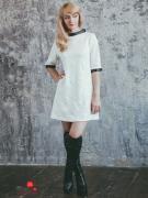 Платье Marrushka, цвет белый, черный