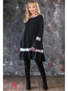 Платье Marrushka, цвет чёрный, белый