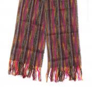 Оригинальный черно-розовый теплый шарф Базиль 14406