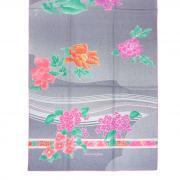 Красивый шелковый палантин в серых тонах с цветками Leonard 813477