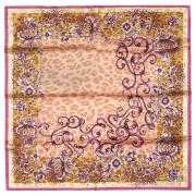 Персиковый платок с леопардовым принтом Marina D`Este 821456