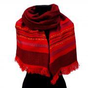 """Красный зимний женский шарф """"в елочку"""" Club Seta 823592"""