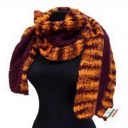 Оранжевый с малиновым зимний шарф Club Seta 823638