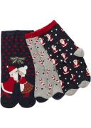 Носки в новогоднем дизайне (3 шт.) (синий) - bpc bonprix collection