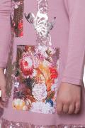 платье Choupette трикотажное с декором пэчворк