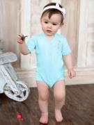 Боди Мамуляндия для девочки, цвет голубой