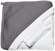Red Castle Махровое полотенце с уголком + варежка цвет серый