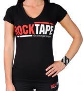 Футболка RockTape Go Stronger Longer (Модификация: Женская s красная)
