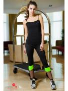 Спортивные брюки ISSA PLUS, цвет черный, салатовый