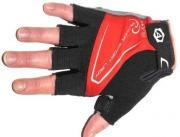 Перчатки велосипедные AUTHOR Lady Comfort Gel красн-черно-серые