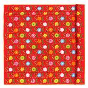 Стильные цветы и буквы на красном фоне Ken Scott 819856