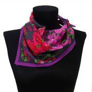 Шифоновый платочек в цветочной асимметрии Ken Scott 819840