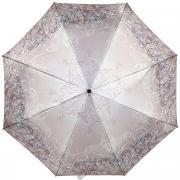 Зонт женский Eleganzza, автомат, 3 сложения, цвет: серо-коричневый....