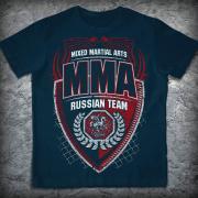 Футболка «ММА. Russian team», Цвет Индиго, Размер M