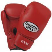 """Перчатки боксерские Green Hill """"Gym"""", цвет: красный. Вес 12 унций"""
