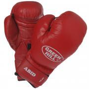 """Перчатки боксерские Green Hill """"Abid"""", цвет: красный. Вес 12 унций"""
