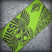 Полотенце «RUSSIA», Цвет Ярко-зеленый