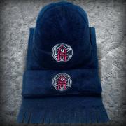 Шапка и шарф «Русский Витязь», Цвет Темно-синий