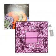 Розовый платок с огурцами в карман пиджака Marina D`Este 821007