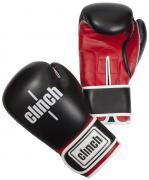 """Перчатки боксерские Clinch """"Fight"""", цвет: черно-красный, 12 унций...."""